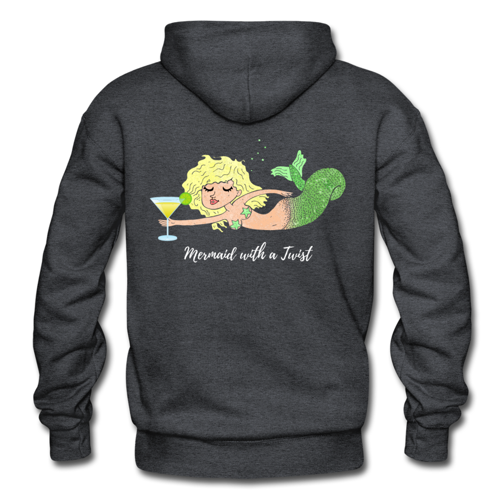 Mermaid with a Twist-Unisex 2-sided Hoodie - charcoal gray
