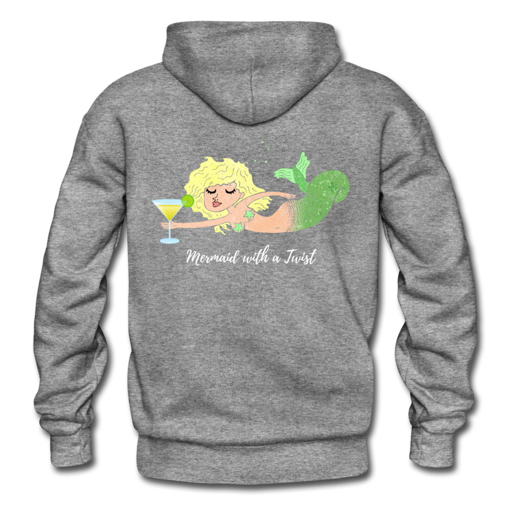 Mermaid with a Twist-Unisex 2-sided Hoodie - graphite heather