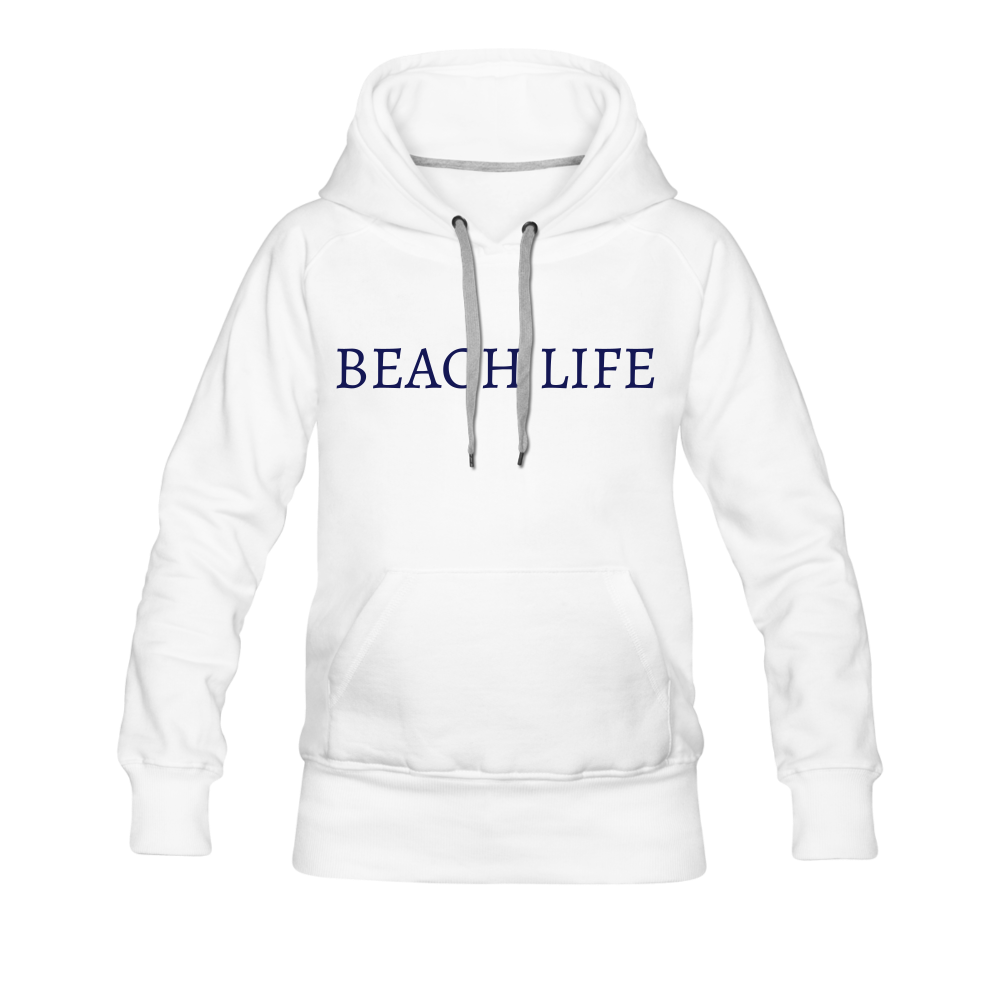 Beach Life-Live by Water 2-sided Women's Hoodie - white