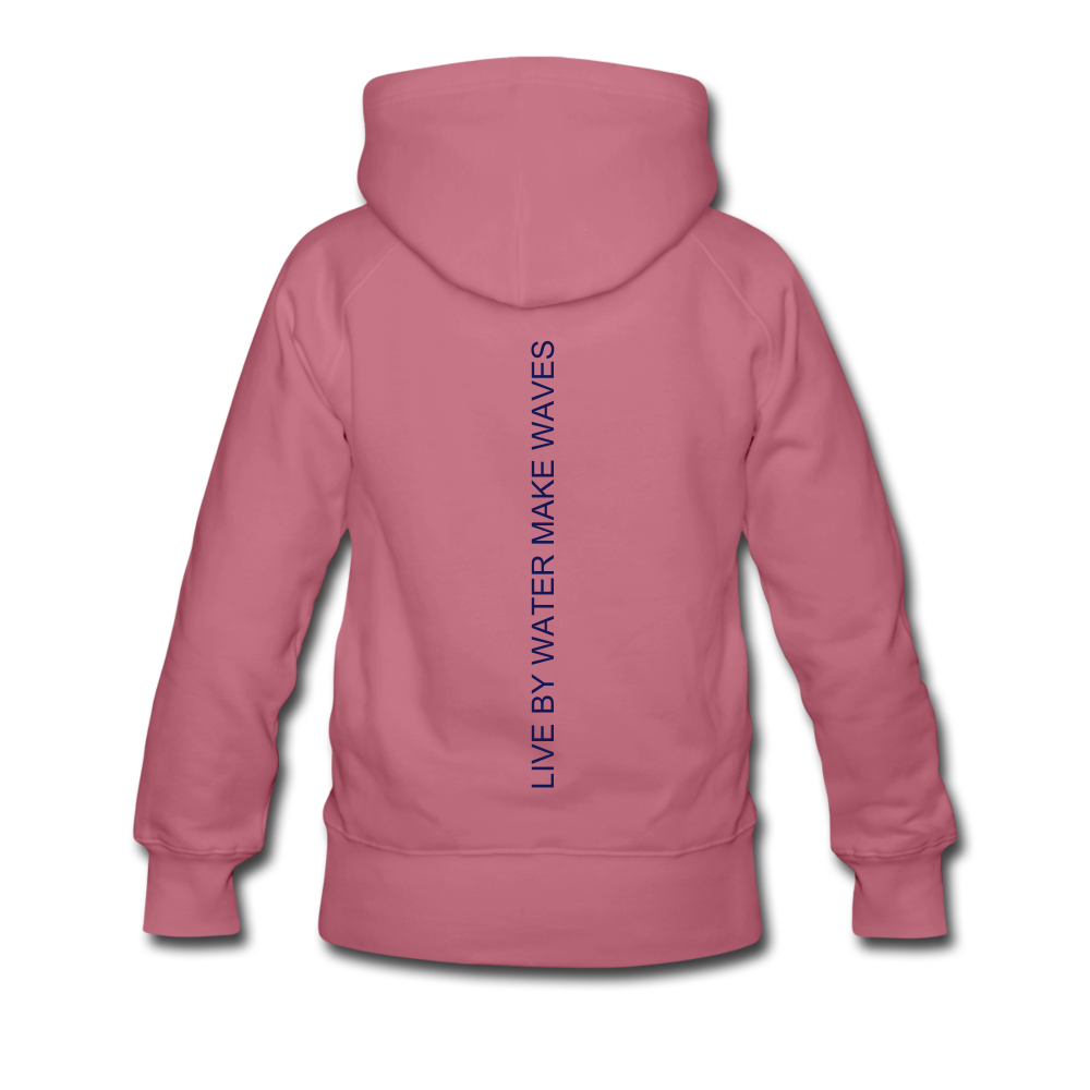 Beach Life-Live by Water 2-sided Women's Hoodie - mauve