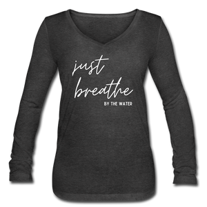 Open image in slideshow, Just Breathe by the Water-Women's Long Sleeve T - deep heather
