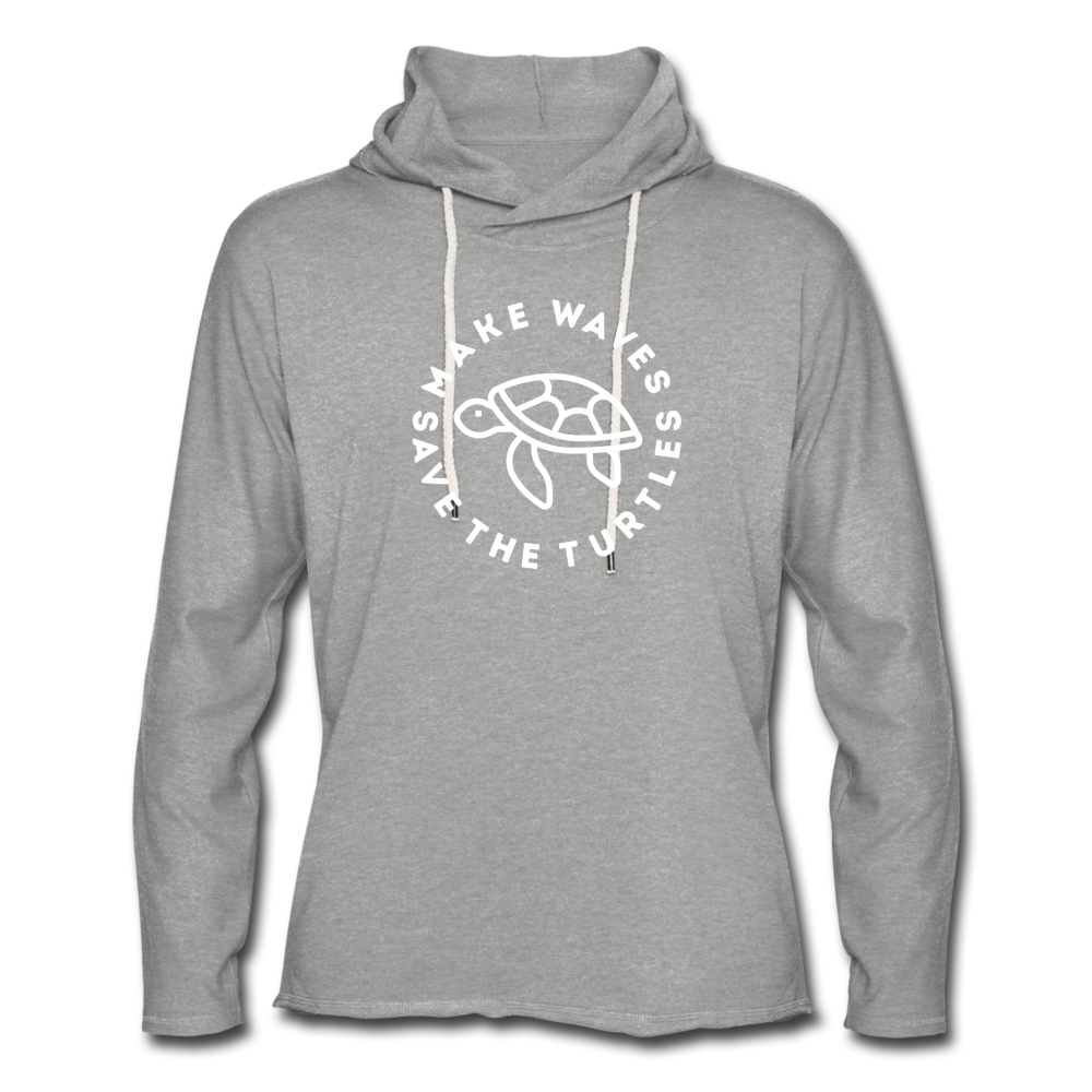 Save the Turtles-Terry Hoodie - heather gray