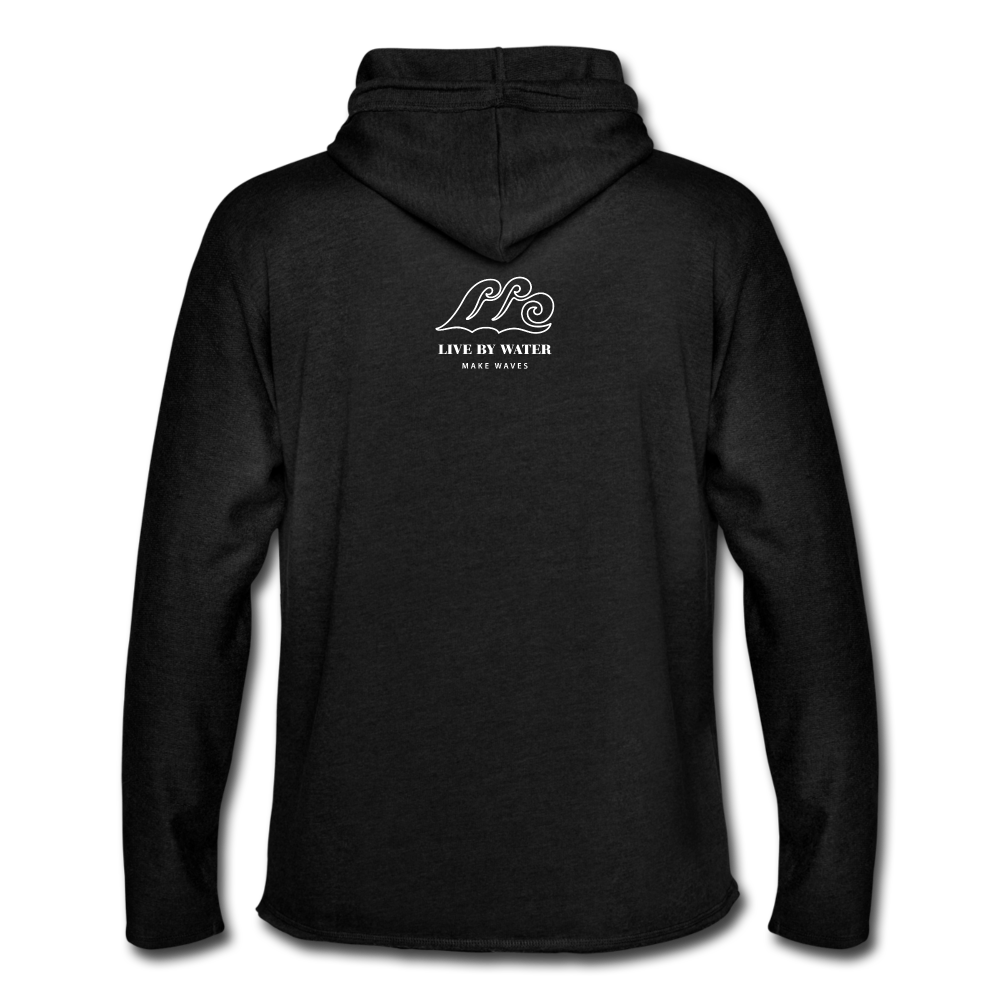 Save the Turtles-Terry Hoodie - charcoal gray