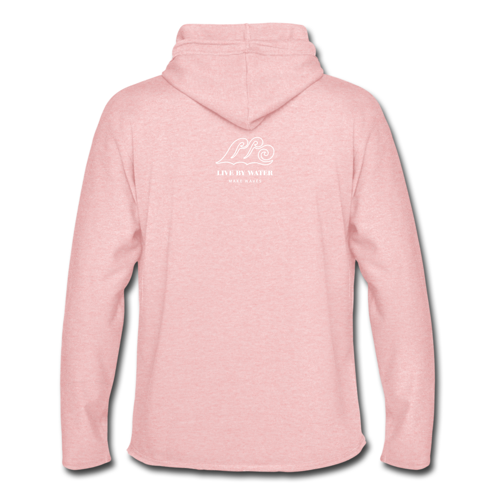 Save the Turtles-Terry Hoodie - cream heather pink