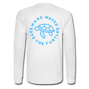 Open image in slideshow, The Kelsey Save the Turtles-Unisex Long Sleeve T - white