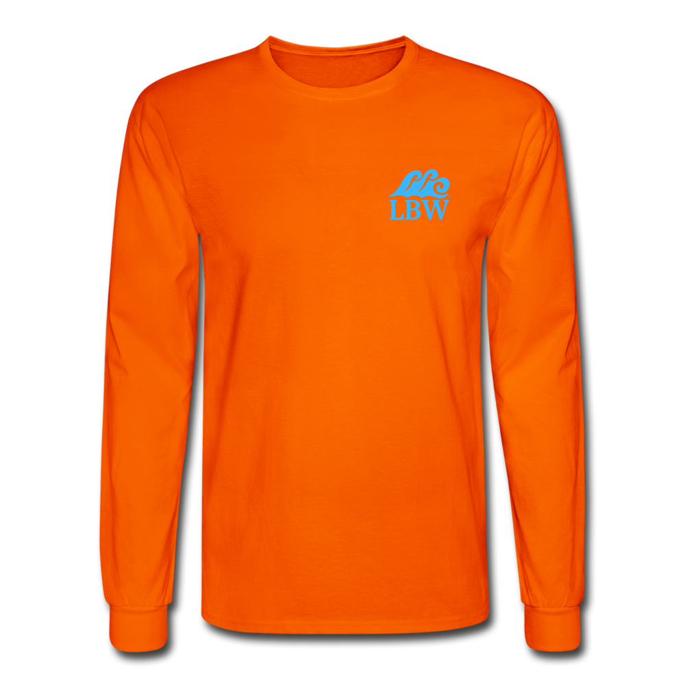 The Kelsey Save the Turtles-Unisex Long Sleeve T - orange