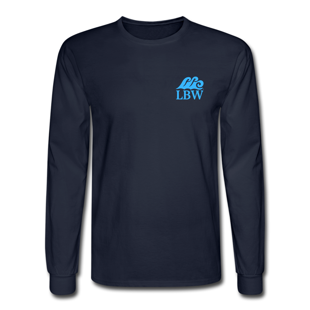 The Kelsey Save the Turtles-Unisex Long Sleeve T - navy