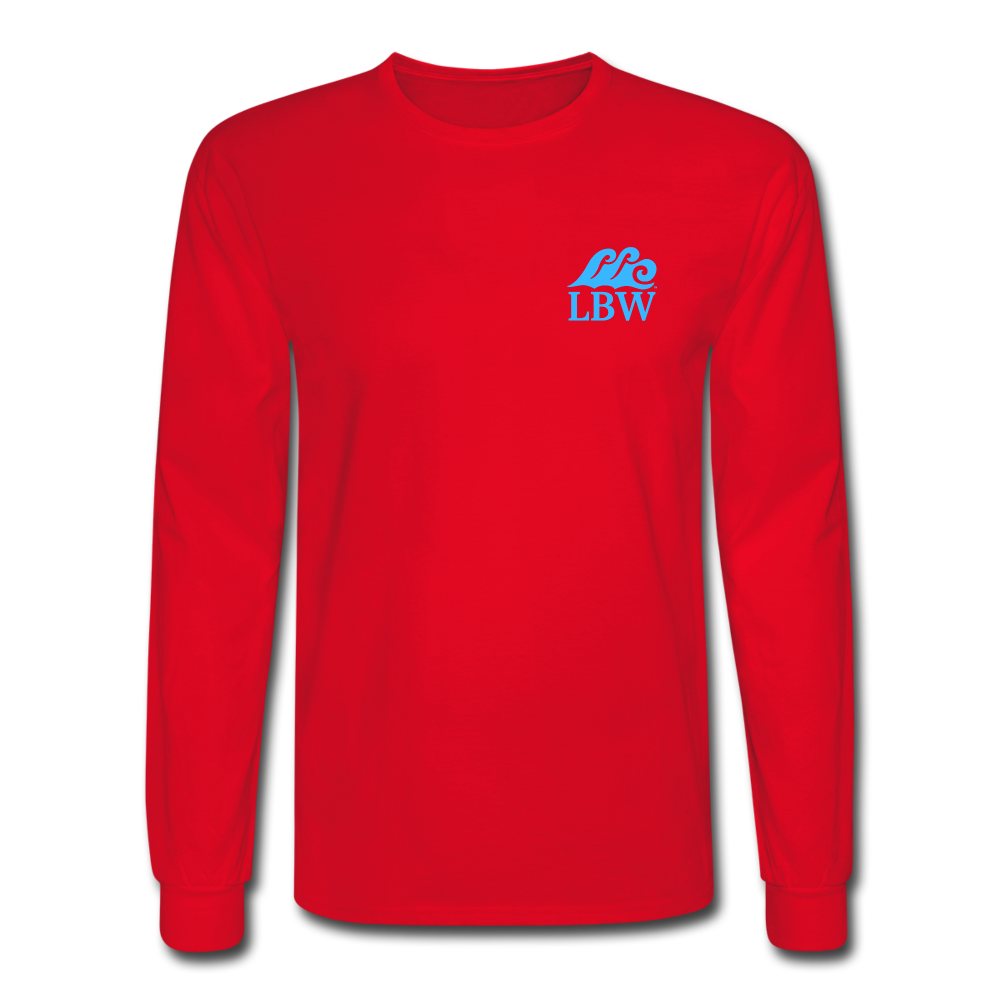 The Kelsey Save the Turtles-Unisex Long Sleeve T - red