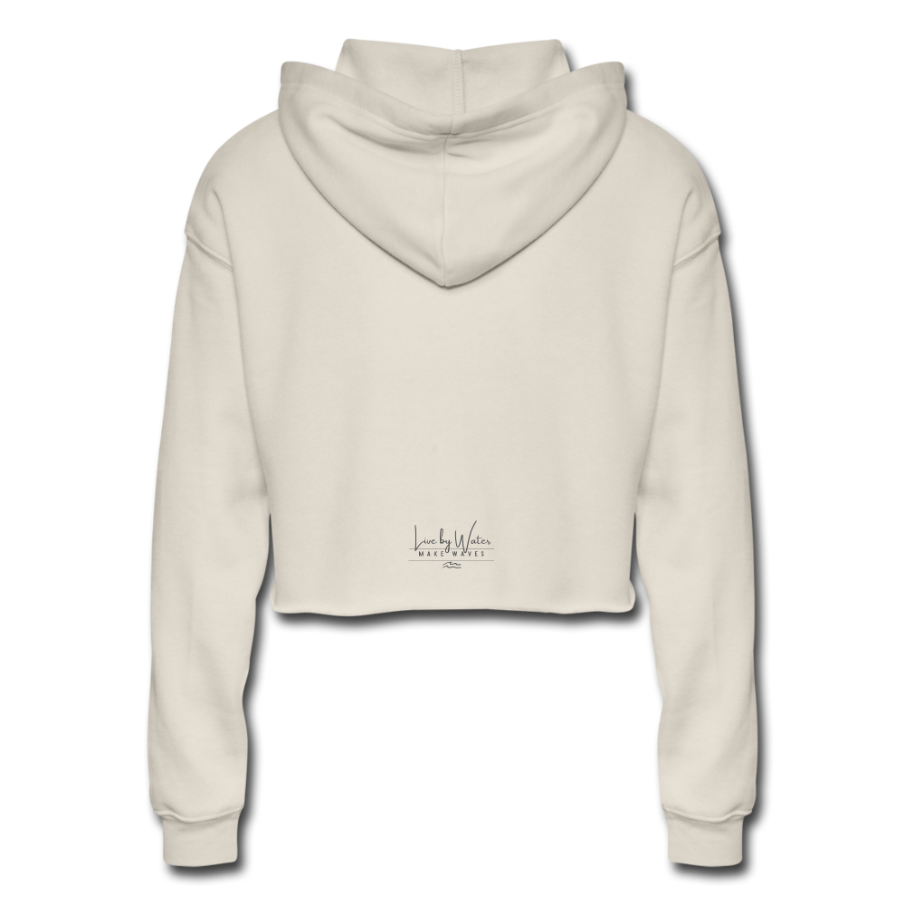 It's a Salty Kind of Day-Women's Cropped Hoodie - dust