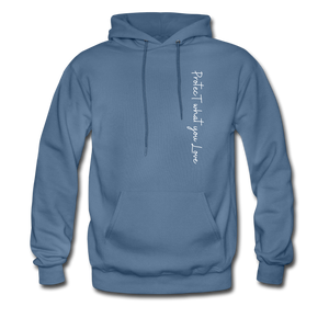 Protect what you Love-2-sided Hoodie - denim blue
