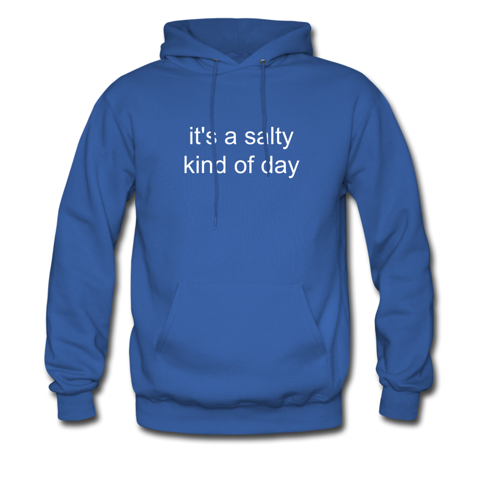 It's a Salty Kind of Day-2-sided Unisex Hoodie - royal blue