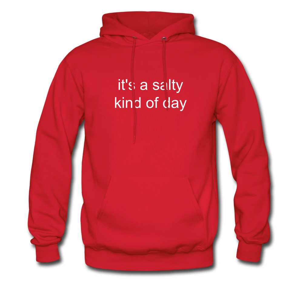 It's a Salty Kind of Day-2-sided Unisex Hoodie - red