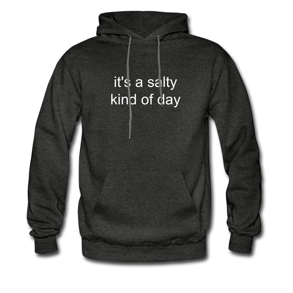 It's a Salty Kind of Day-2-sided Unisex Hoodie - charcoal gray