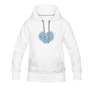I Love Water-Women's 2-sided Hoodie - white