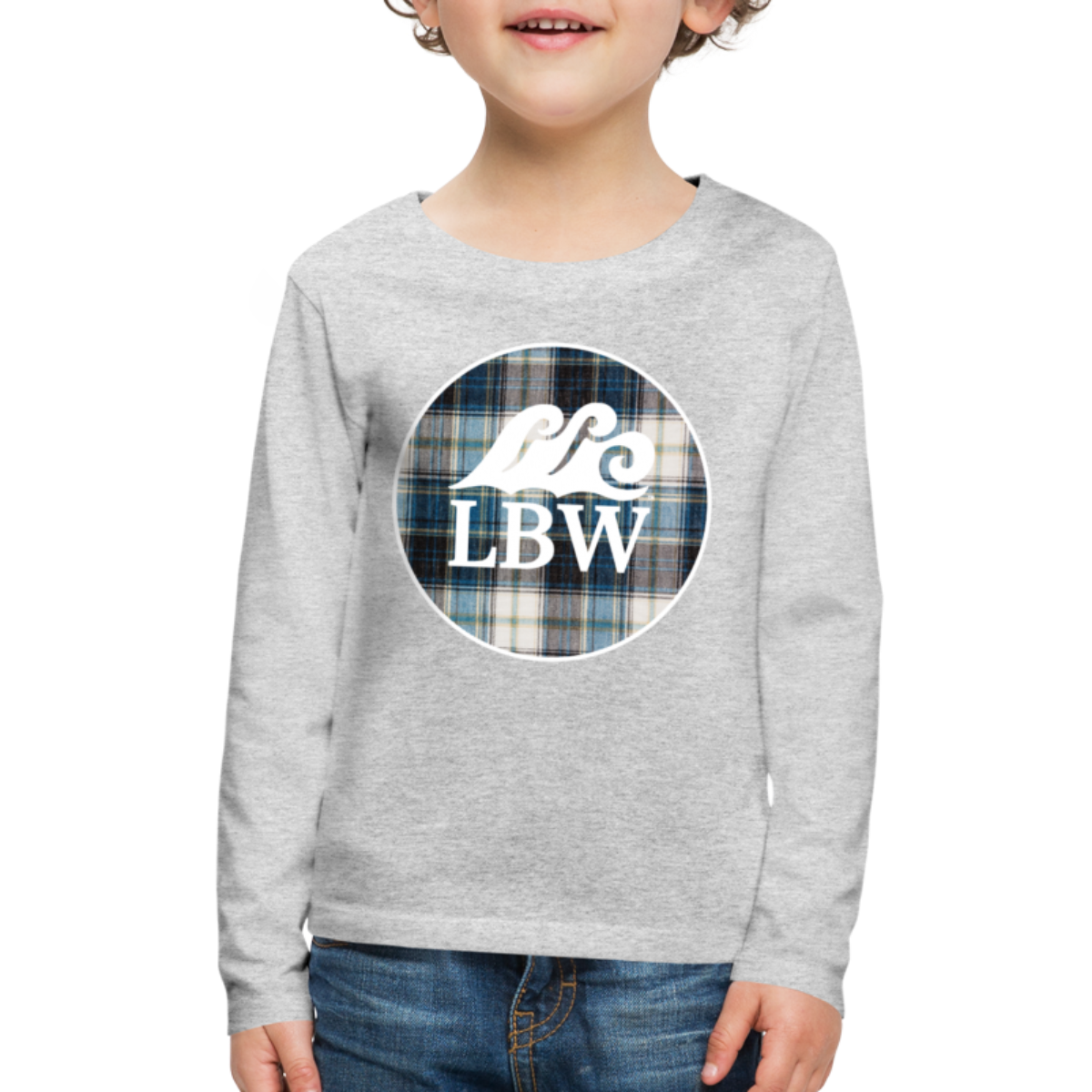 Teal Flannel-Kids' Long Sleeve T