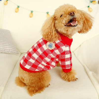 Plaid Pet Sweater