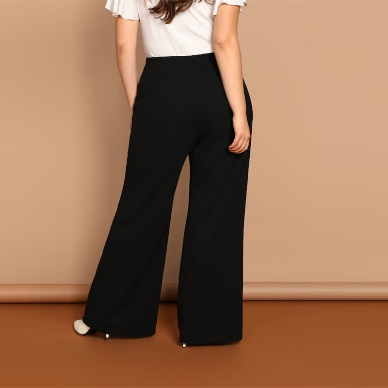 'Kylee' Plus Size Loose Wide Leg Pants