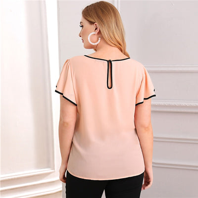 'Giselle' Plus Size Pink Blouse