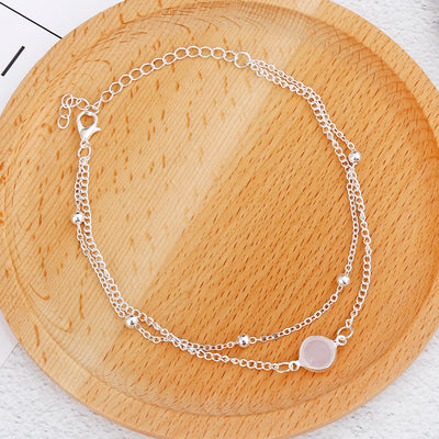'Maria' Multilayer beads anklet