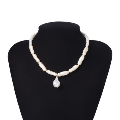 'Camila' Multilayer White Pearl Choker Necklace