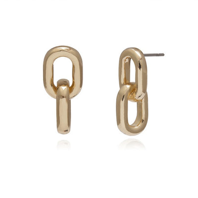 'Sadie' Double Circle Drop Earrings