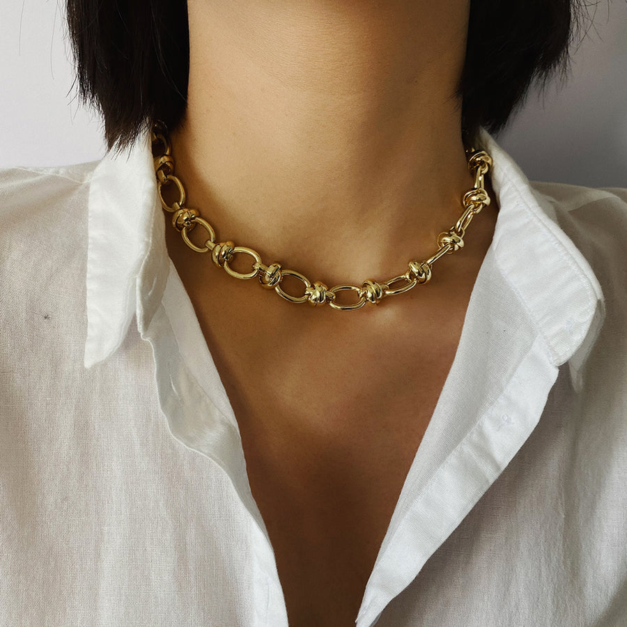 'Alexa' Punk lock choker necklace