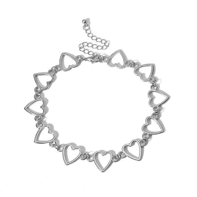 'Zoe' Love Heart Choker Necklace