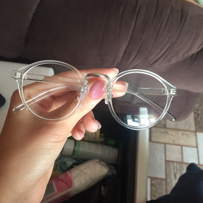 'Reagan' Transparent round glasses