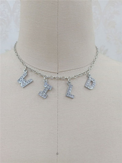 'Ashley' Letter Crystal Necklace