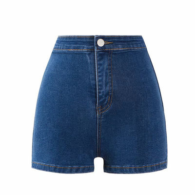 'Rachel' High Waist Denim shorts