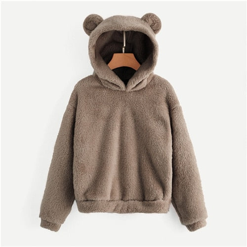 'Daniela' Teddy Hoodie with Bear Ears