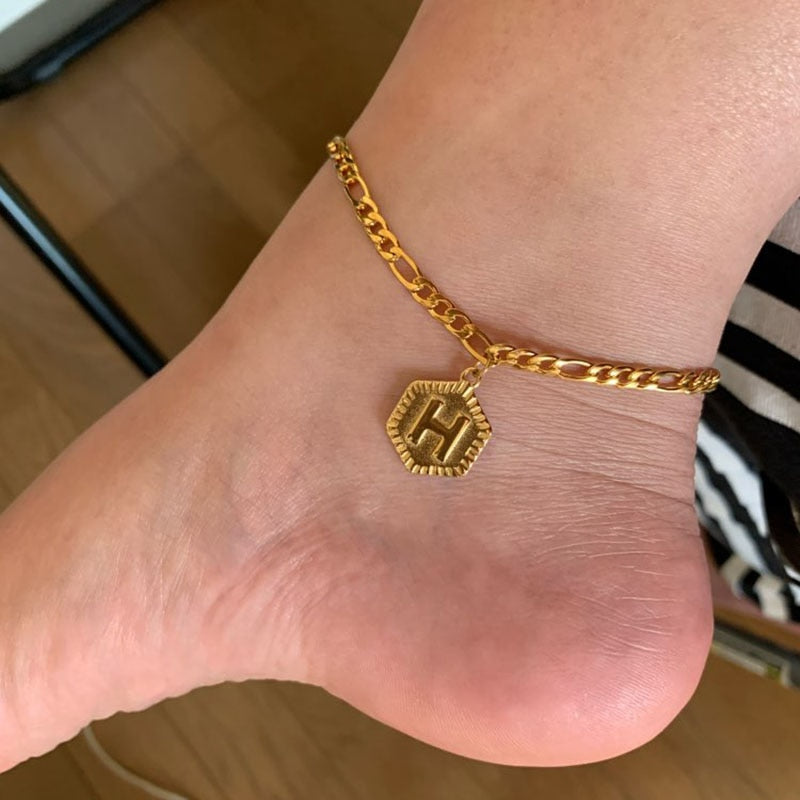 'Annabelle' A-Z Alphabet Initial Boho Anklet