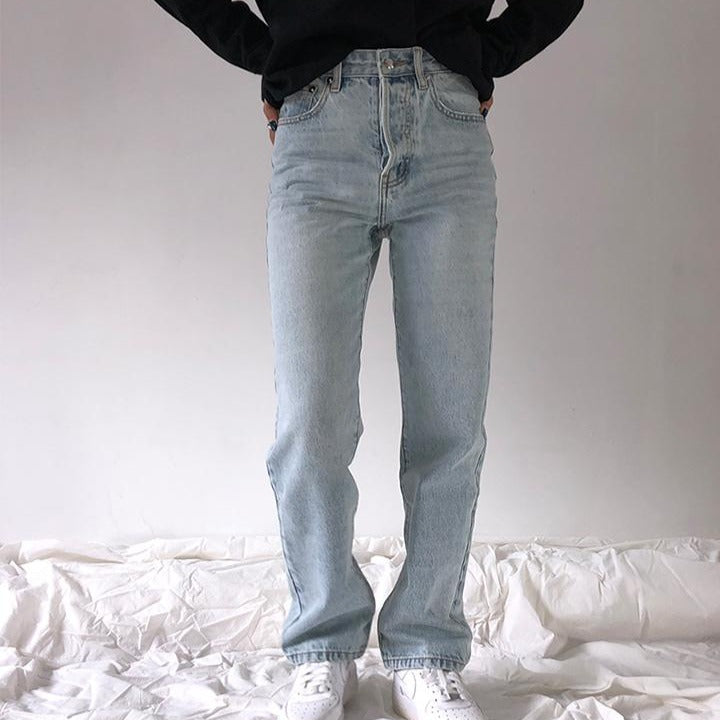'Angelina' High Waist Loose Jeans
