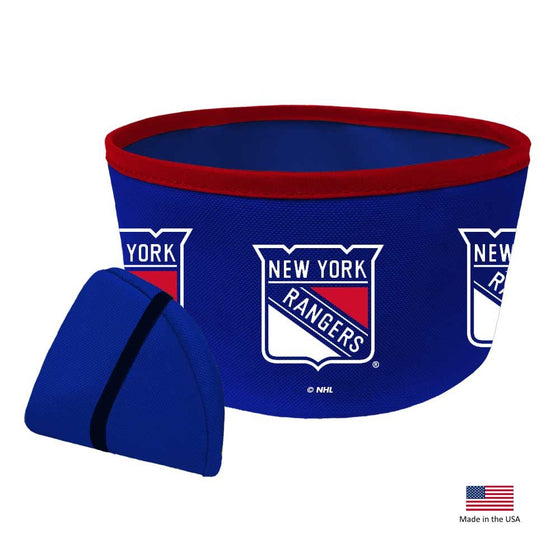 New York Rangers Collapsible Pet Bowl