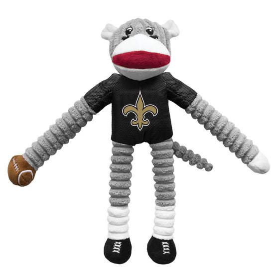 New Orleans Saints Sock Monkey Pet Toy