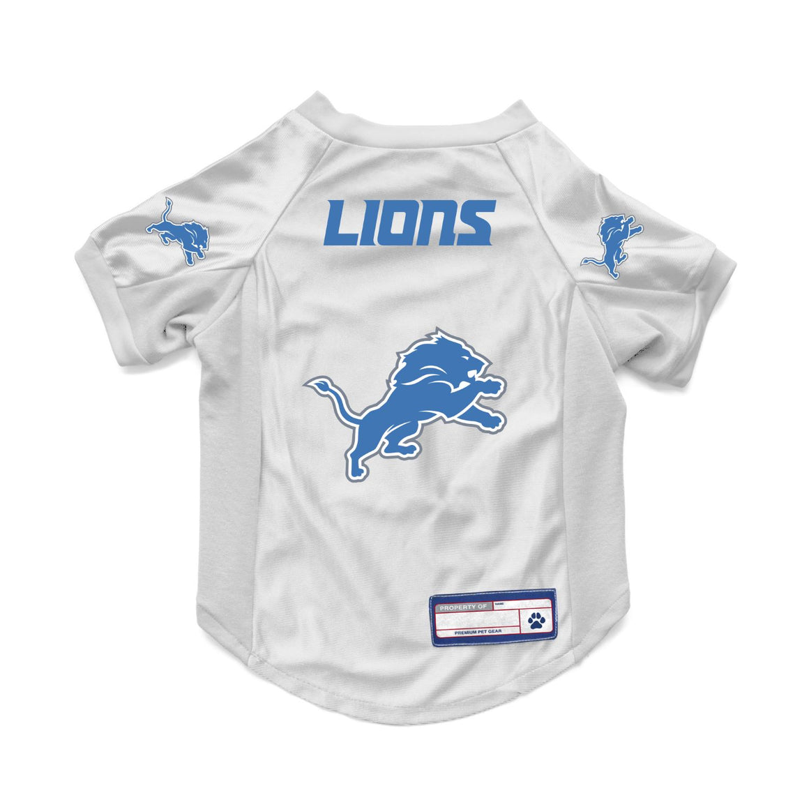 Detroit Lions White Pet Stretch Jersey