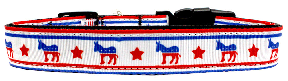 Political Nylon Democrat Dog Collar Md Narrow