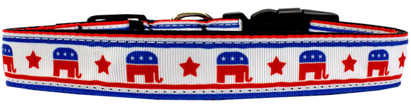 Political Nylon Republican Dog Collar Small Wide