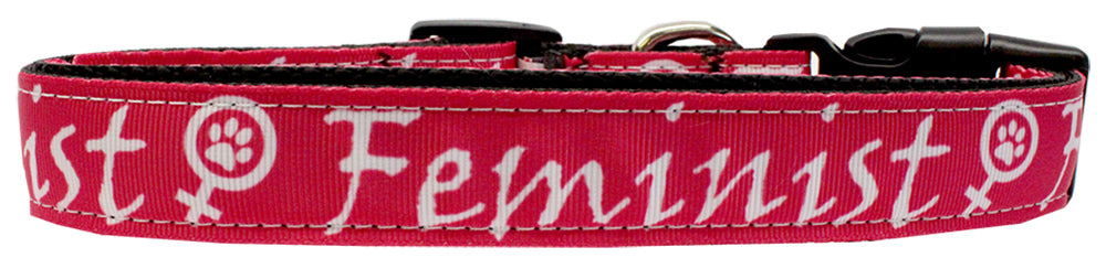 Feminist Nylon Dog Collar Sm Wide