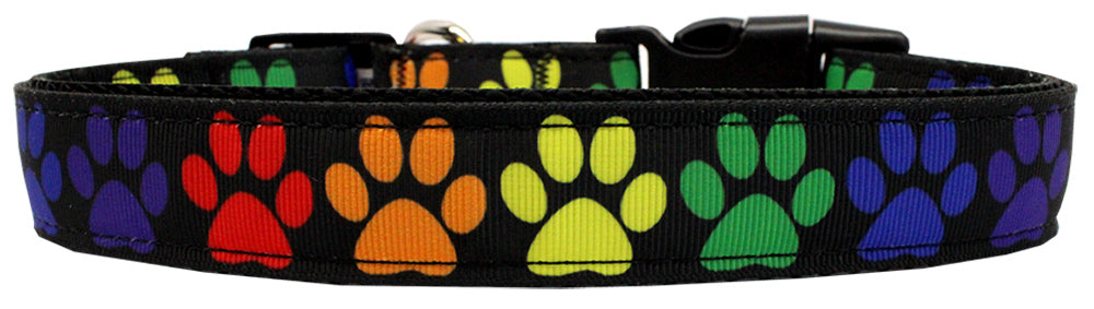 Rainbow Paws Nylon Dog Collar Md Narrow