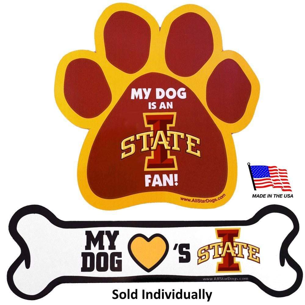All Star Dogs Dog-products NCAA Bone Iowa State Cyclones Car Magnets
