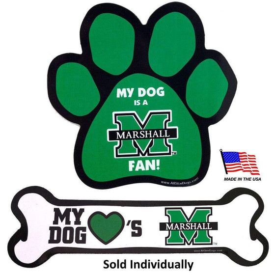 All Star Dogs Dog-products NCAA Bone Marshall Thundering Herd Car Magnets
