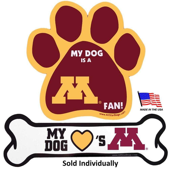 All Star Dogs Dog-products NCAA Bone Minnesota Golden Gophers Car Magnets