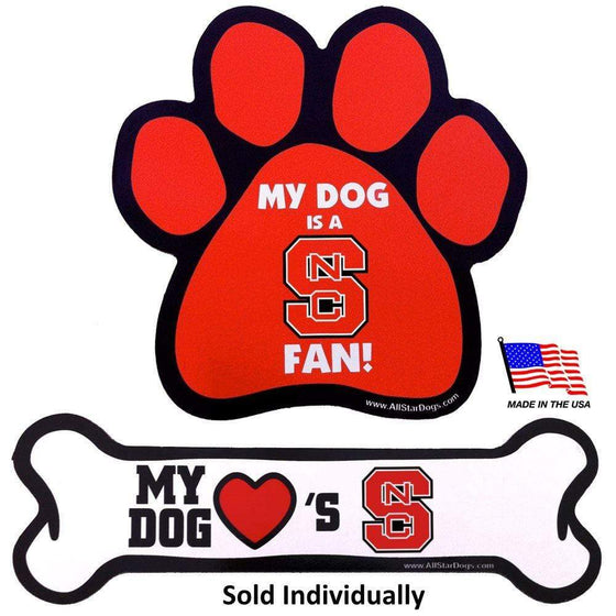 All Star Dogs Dog-products NCAA Bone Nc State Wolfpack Car Magnets