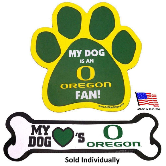 All Star Dogs Dog-products NCAA Bone Oregon Ducks Car Magnets