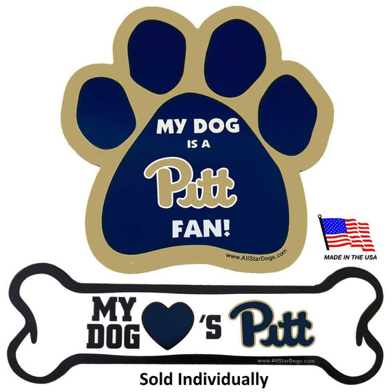 All Star Dogs Dog-products NCAA Bone Pittsburgh Panthers Car Magnets