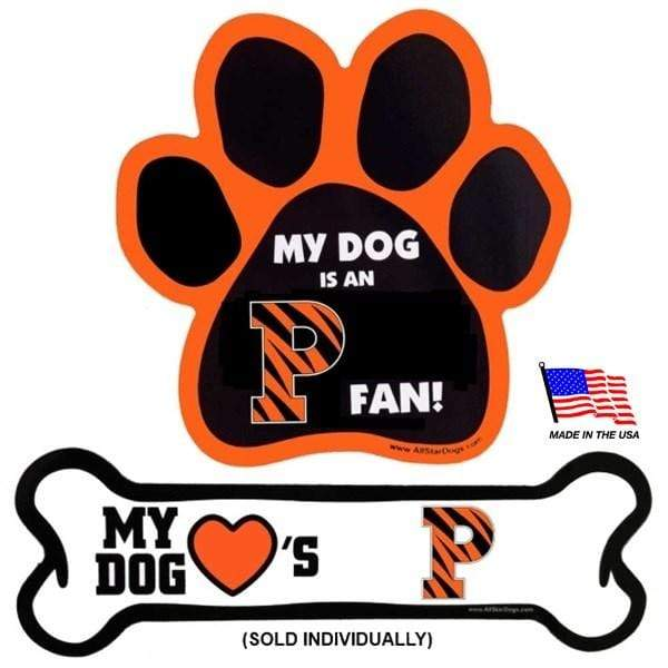 All Star Dogs Dog-products NCAA Bone Princeton Tigers Car Magnets