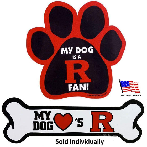 All Star Dogs Dog-products NCAA Bone Rutgers Scarlet Knights Car Magnets