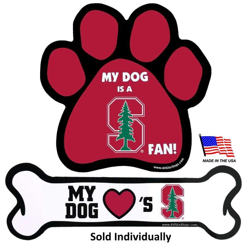 All Star Dogs Dog-products NCAA Bone Stanford Cardinal Car Magnets