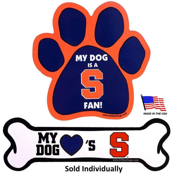 All Star Dogs Dog-products NCAA Bone Syracuse Orange Car Magnets